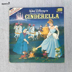 Vintage Disney Cinderella Vinyl Record